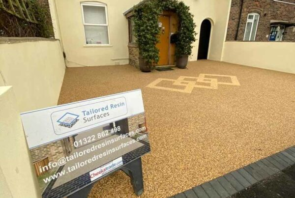 New resin driveway by Tailored Resin Surfaces at a property in Eltham