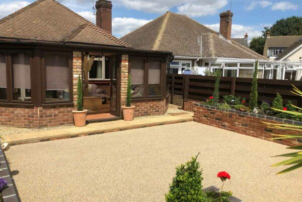 New resin driveway by Tailored Resin Surfaces at a property in Gravesend