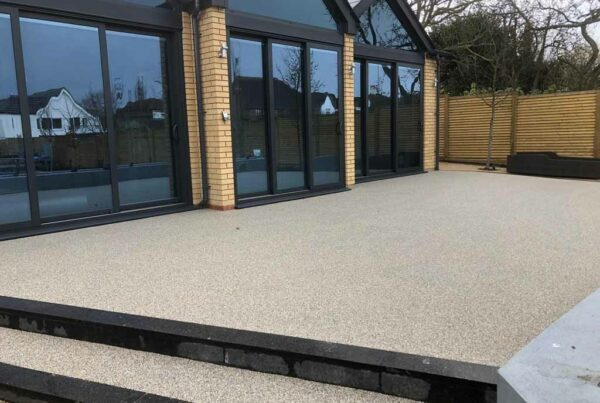 New resin driveway by Tailored Resin Surfaces at a property in Joyden's Wood