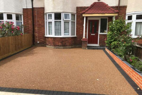 New resin driveway by Tailored Resin Surfaces at a property in New Eltham