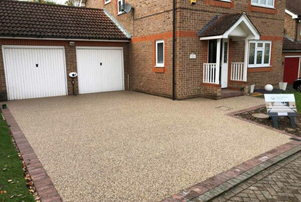 New resin driveway by Tailored Resin Surfaces at a property in Orpington