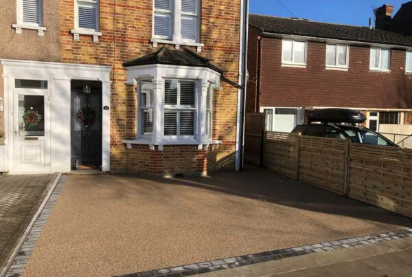 New resin driveway by Tailored Resin Surfaces at a property in Sidcup